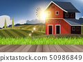 view of barn in the farm in the morning 50986849