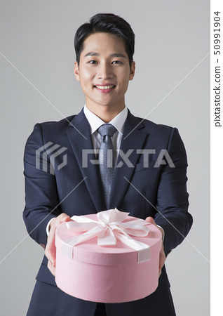 Attractive young man. sale, shopping, fashion, and style concept photo 374 50991904