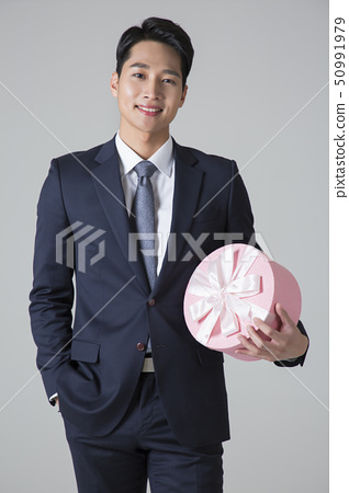 Attractive young man. sale, shopping, fashion, and style concept photo 373 50991979