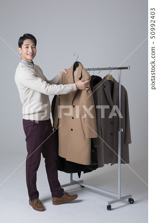 Attractive young man. sale, shopping, fashion, and style concept photo 139 50992403