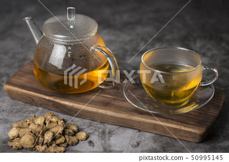 Close up of winter food ingredients Isolated on white background - salsify, oyster, mussel, shrimp and clam 030 50995145