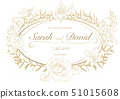 Floral Wedding Invitation 51015608