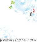 금붕어 여름 이미지 배경 일러스트 51087937