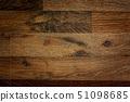 Dark brown wooden background with high resolution. Top view Old grunge dark textured wooden 51098685
