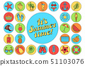 여름, 하계, 디자인 51103076