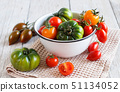 Colorful tomatoes in a bowl 51134052
