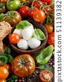 Italian ingridients for caprese salad 51139382