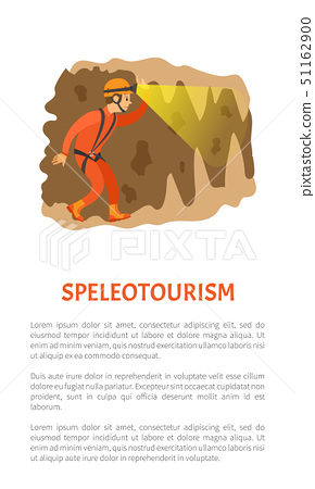 Person in Cave, SpeleoTourism, Activity Vector 51162900