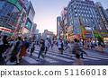 일본 도쿄 도시 경관 도로의 균열과 가부키쵸 등을 원하는 (야경) 51166018