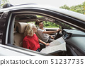 Young couple in car 51237735