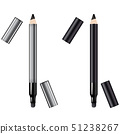 Eyeliner 3d template pencil. Make up realistic 51238267
