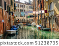Venice, Italy, washes hanging over canal 51238735