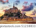 Mont Saint Michel island, Normandy, France 51238833