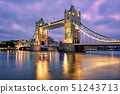 Tower Bridge over Thames river in London, UK 51243713
