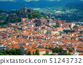 Le Puy-en-Velay town, France, panoramic view 51243732