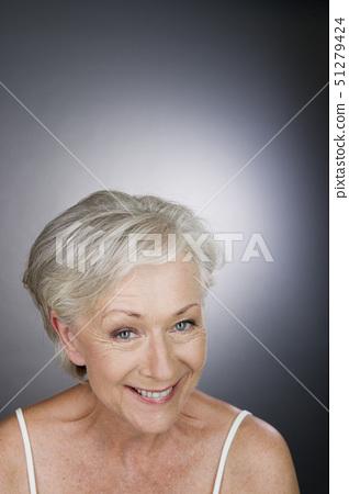 A senior woman smiling 51279424
