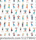 Fitness center seamless pattern vector illustration. Sport club background 51279642