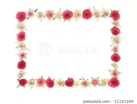 A frame of colorful roses 51281899