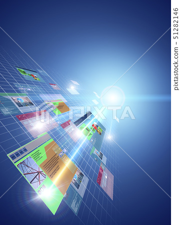 Digital composite of web pages 51282146