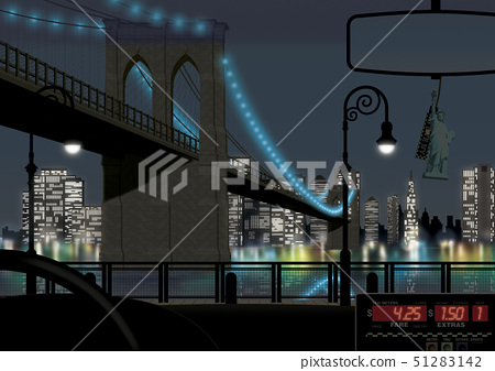 View of bridge by river through windshield 51283142