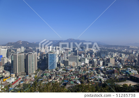 downtown from namsan, seoul, korea 51285738