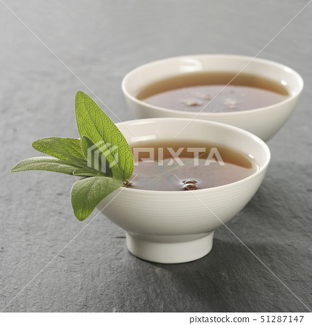 Two dishes with herbal tea 51287147