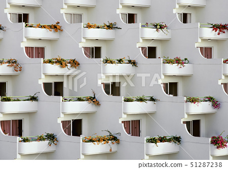 Balconies of a housing area 51287238