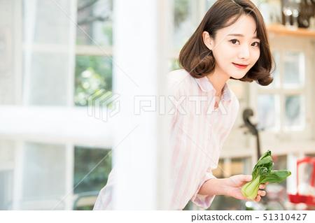 여성 라이프 스타일 요리 51310427