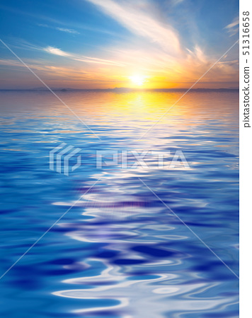 Surface Rippled of water and sky background 51316658