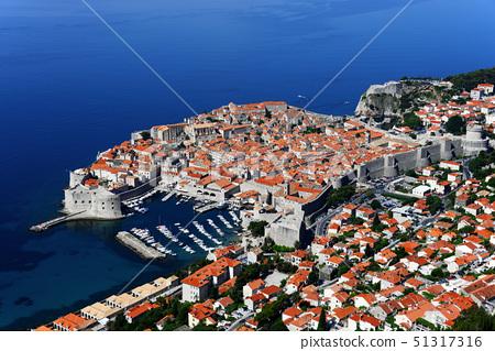 Aerial view of Dubrovnik, Croatia 51317316