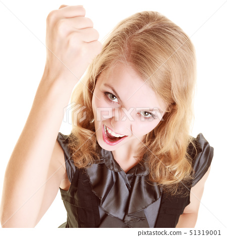 angry businesswoman furious woman shaking a fist at you 51319001