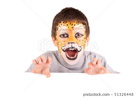 Boy with face-paint 51326448