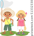 採取昆蟲的暑假孩子 51332330