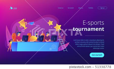 E-sport tournament concept landing page. 51338778