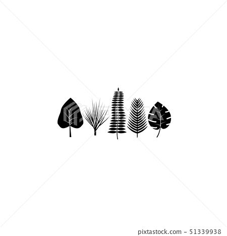 Tropical Leaves Icon Black On White Background Stock Illustration 51339938 Pixta Tropical leaf, printable art, monstera leaves, tropical leaves, tropical decor, green wall decor download free leaves icon vector vector art. pixta