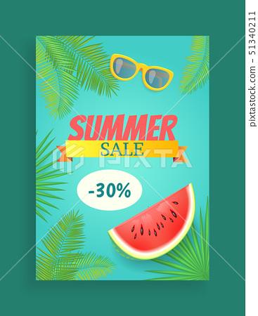 Summer Sale Vector Banner Promotion Leaflet Sample 51340211