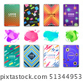 Abstract Liquid Shapes Design of Covers Pages Set 51344953