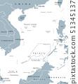 South China Sea Islands political map 51345137