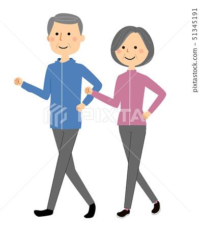 高級夫妻散步 51345191