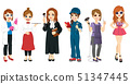 Different female professional workers characters 51347445