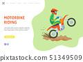Motorbike Riding Website with Man on Bike Web 51349509