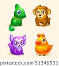 Animals. Vector cartoon cute animals.  51349531
