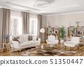 Interior of modern living room 3d rendering 51350447