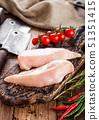 Fresh Raw Organic Chicken Fillet Breast  51351415