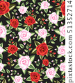 seamless floral roses pattern 51352714