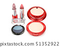 Set of decorative cosmetics for face isolated on 51352922