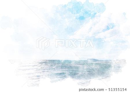 Enoshima watercolor painting style seen from Inamura Kazaki 51355154