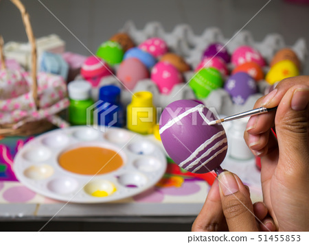 Beautiful art on eggs in easter festival. 51455853