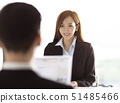 Male Manager Interviewing A Young woman In Office 51485466