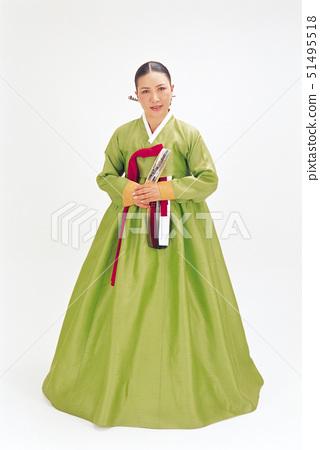 추석,전통,부채 51495518